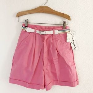 "Vintage 70s/80s NWT preppy pink shorts 25"" waist"